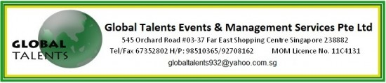 Maid agency: Global Talents Events & Management Services Pte. Ltd.