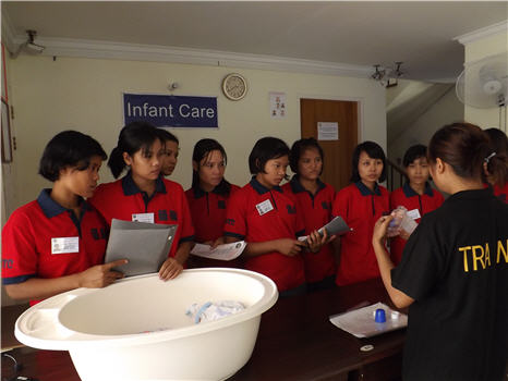 Myanmar maid agency training center 2